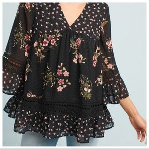 Maeve Steffy Floral Bell Sleeve Blouse